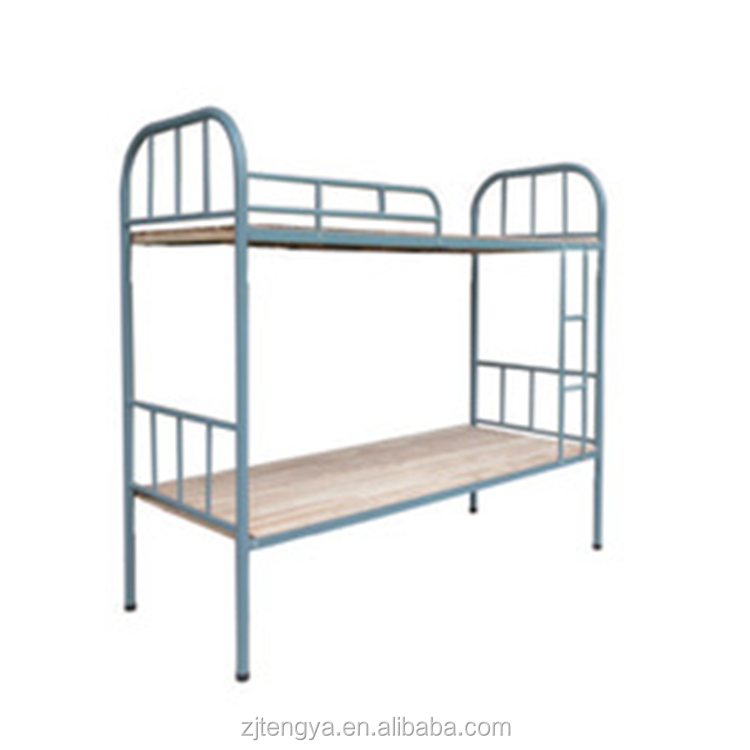 Iron pipe bunk school dormitory student bed