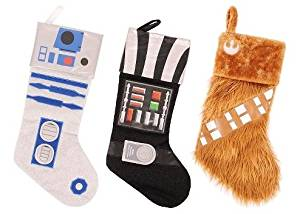 Star Wars Stockings R2D2, Darth Vader, and Chewbacca - 3 pack