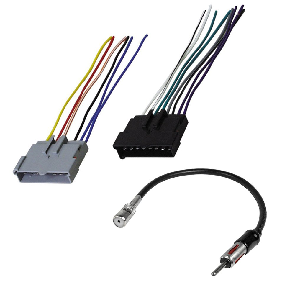 FORD NISSAN MAZDA COMPLETE CAR STEREO RADIO CD PLAYER INSTALLATION KIT WIRE  HARNESS & ANTENNA