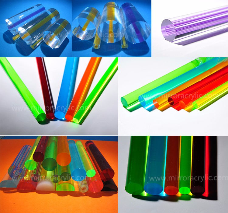 Guangzhou manufacture Olsoon colorful swirl acrylic rod led lighting acrylic rod