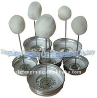 pvc metal tin can cap, sealed cap (for tin can use, with dauber in cap)