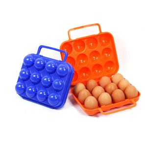 Outdoor Eggs Carrier Box Camping Hiking Folding Plastic Egg Case Container Outdoor Portable Egg Keeper Storage Box