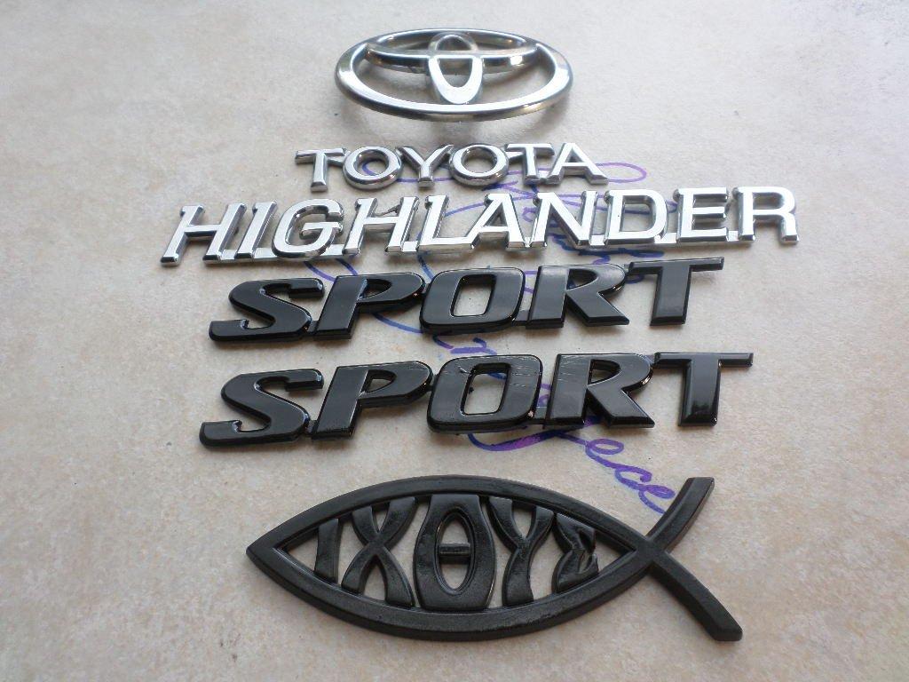 03-07 Toyota Highlander Sport Side Door Emblem 75327-42020 Tailgate Logo 75442-16530 Decal 75327-42020 Script Sticker Set