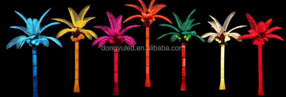 Outdoor Light Up Palm Tree Part - 28: Theme Parku0026back Garden Decoration Fake Light Up Led Palm Tree