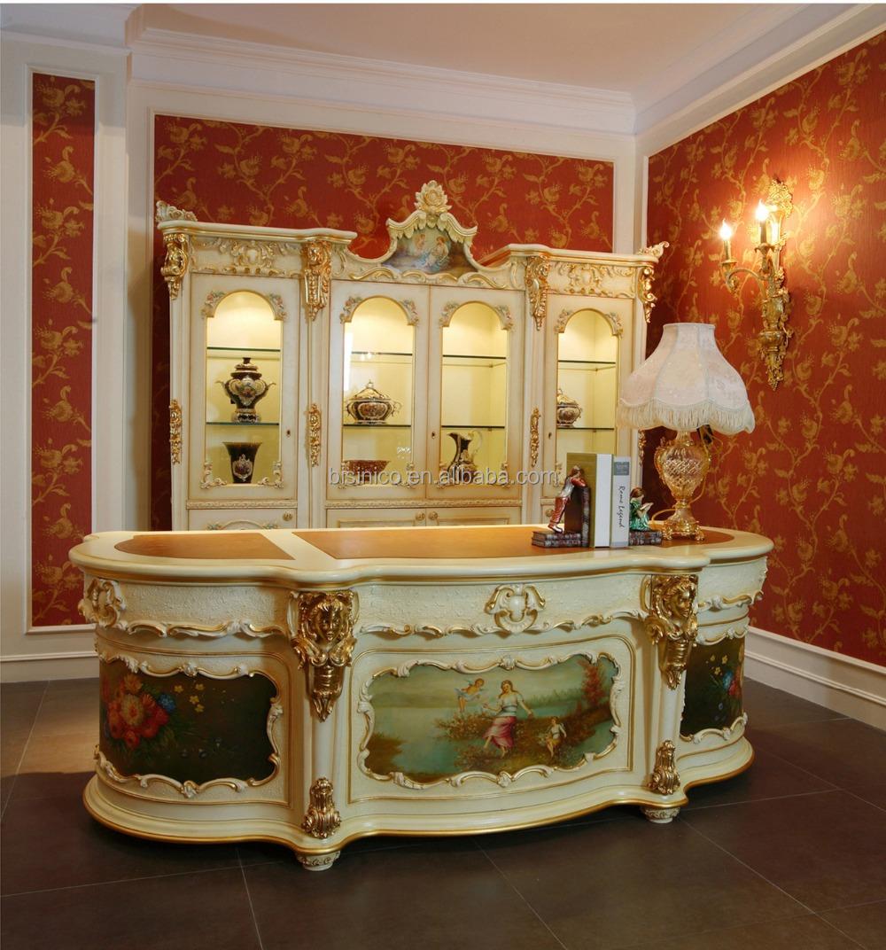 luxe fran ais rococo style blanc stuy salle de biblioth que palais fantaisie bois sculpt. Black Bedroom Furniture Sets. Home Design Ideas