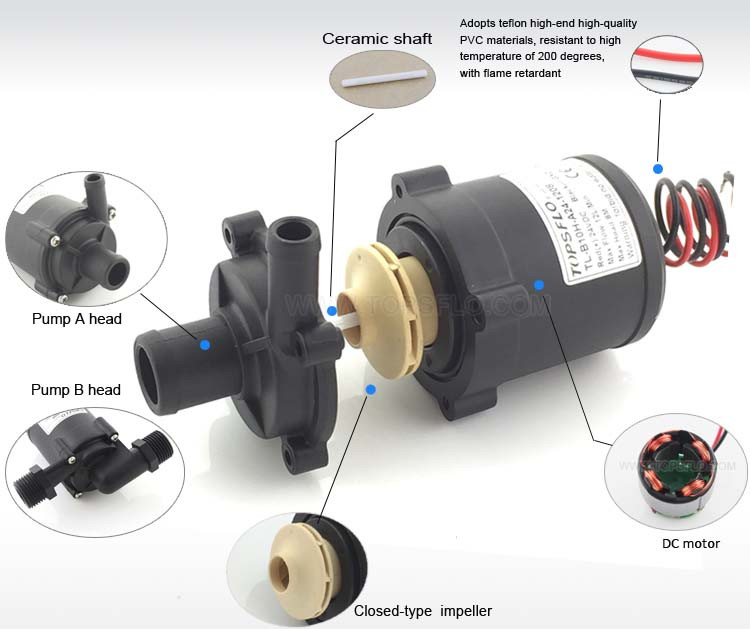 12v 24v Dc Water Pump For Dc Car/truck Radiator Fan
