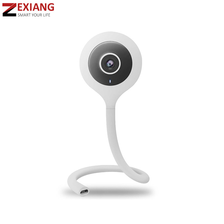Cloud storage p2p 720P flexible mini wifi night vision home baby monitor ip camera with temperature and humidity sensor