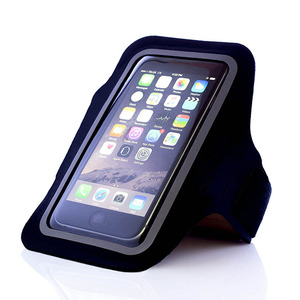 Amazon Hot Sell Thin Black Waterproof Mobile Phone Armband