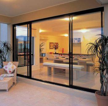 Sliding Stacking External Doors Aluminium Framed Sliding Patio