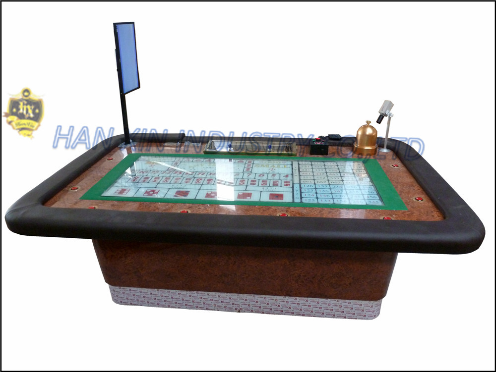 Sic Bo Luxury Casino Craps Table Electronic Poker Table