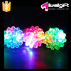 Flashing LED Light Up Toys Bumpy Jelly Rings 48-Pack
