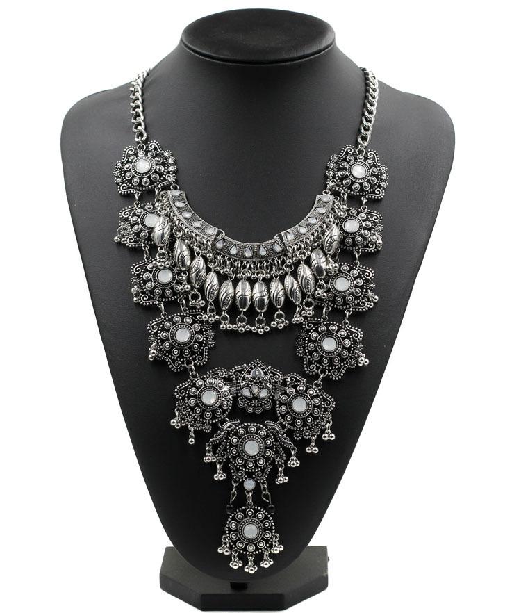 52da2ec3b42f Get Quotations · New Z Design Statement Necklace Wholesale Factory Sale 2  Color Metal Chain Chunky Big Fashion Necklace