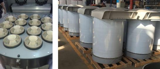 Draagbare industriële vibrator type stofafscheider voor poeder silo