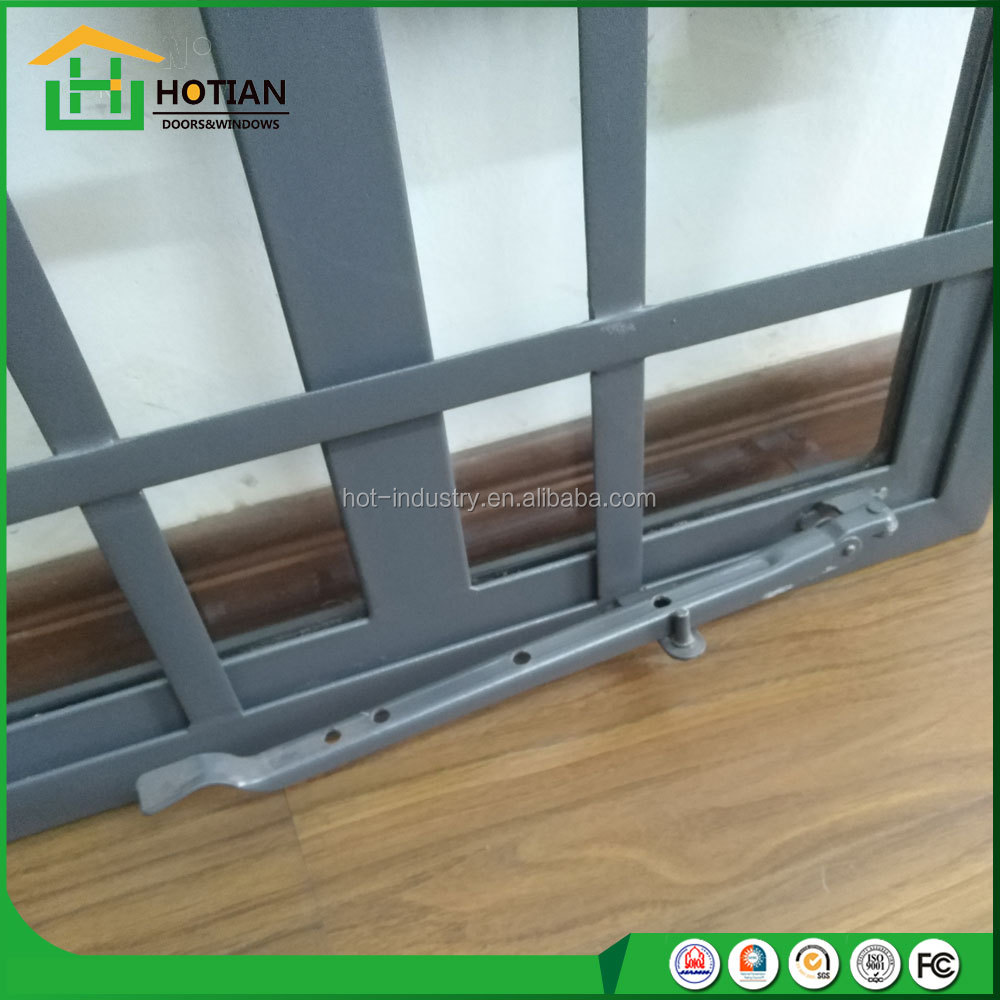 cast iron window grill sash windows gray color steel casement window with burglar proof grills