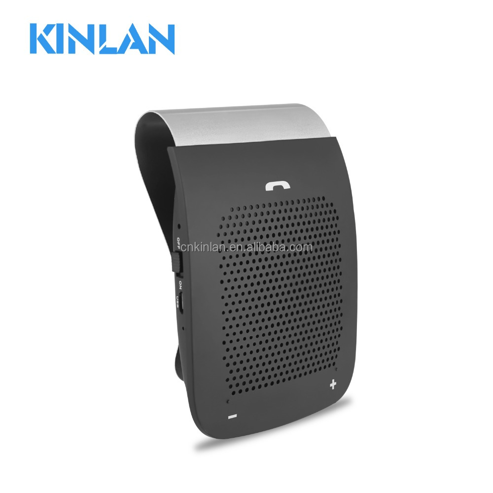 Kinlan Handsfree <strong>Car</strong> Kit Wireless <strong>Bluetooth</strong> Speaker <strong>Visor</strong> Speakers <strong>car</strong> <strong>bluetooth</strong> speaker handsfree