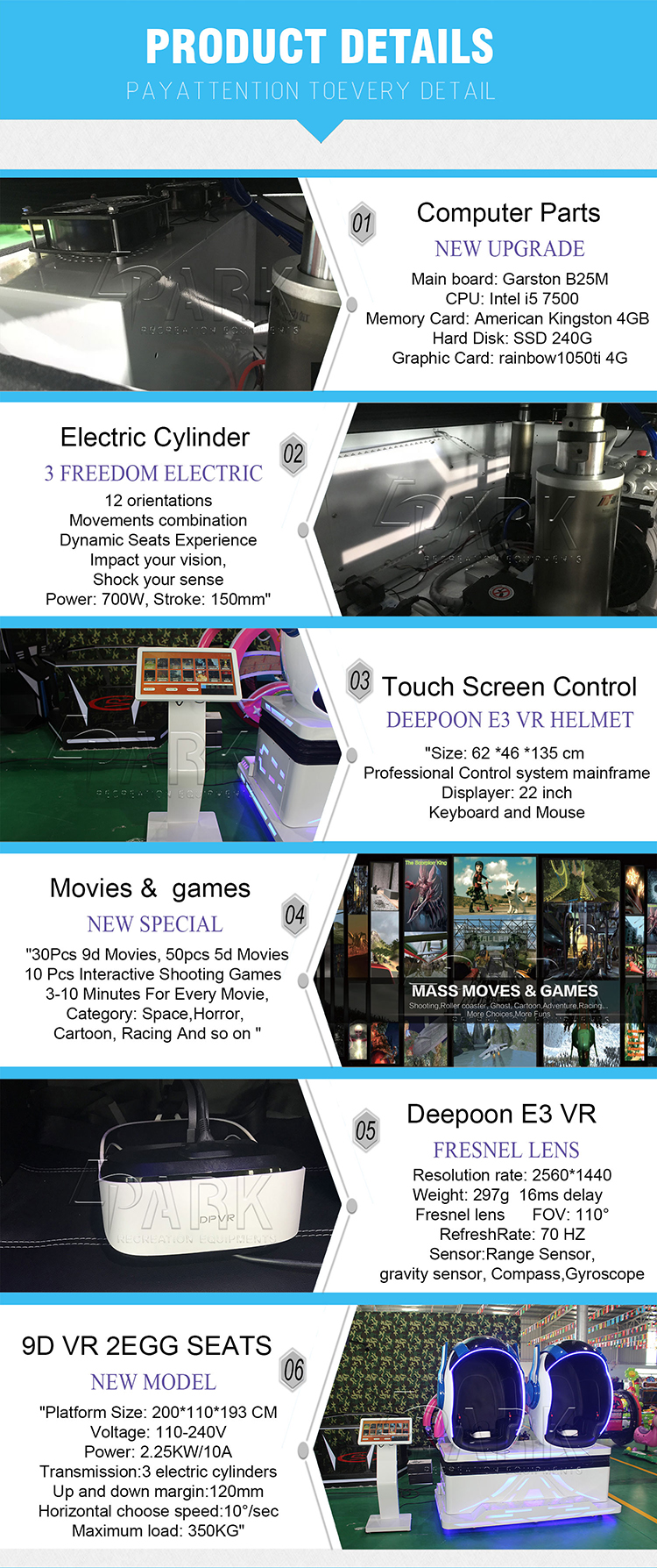 360 Degrees Viewing Angle Camera/Electric Virtual Reality 9d vr game machine/9D  vr Cinema