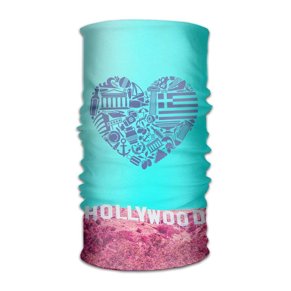 2faaac89dd Get Quotations · DFH Love Hollywood Headband Mask Multi-use Sports Hair  Band Bandanas Tube For Cycling