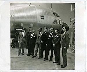 Lockheed 100 Hercules Photo & C-130 Guest Flight Ticket Varig Airlines Officials