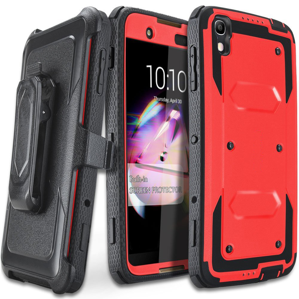 3 in 1 Individual phone case for Alcatel Idol 4 Nitro4 force with bracket Protective and Cheap Shell