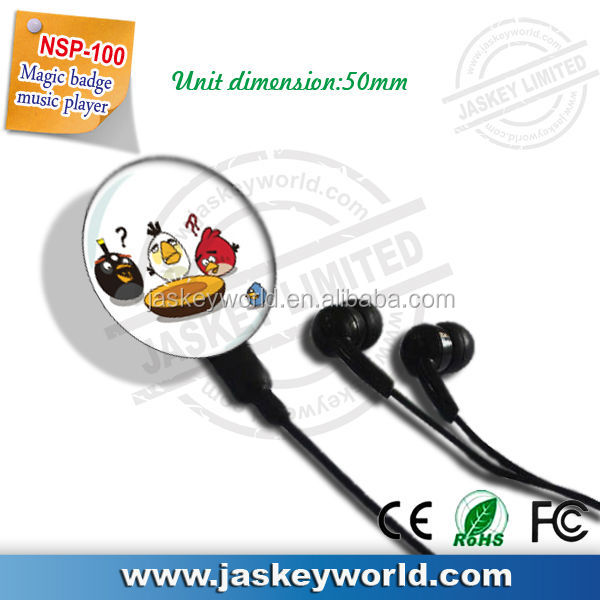 button MP3 with clip