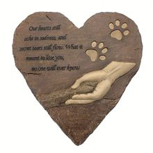 Pet Footprint, for Garden Decor Dog or Cat, Garden Backyard Marker Pets Grave Tombstone