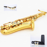 Gold Lacquer Bb Key Student Sax Tenor Saxophone Price