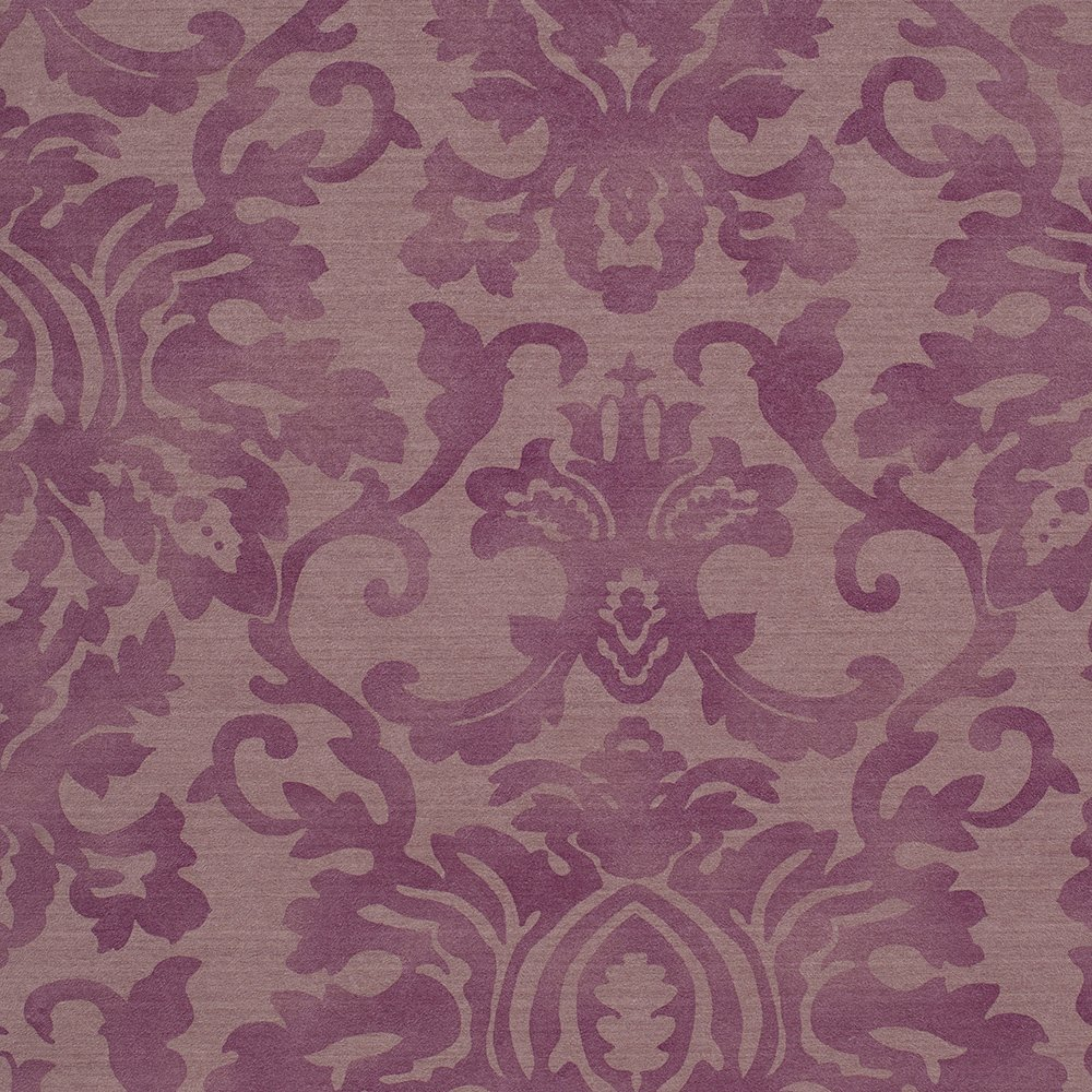 Romosa Wallcoverings Traditional Bliss Purple Faux Worn Damask Wallpaper Roll Decor