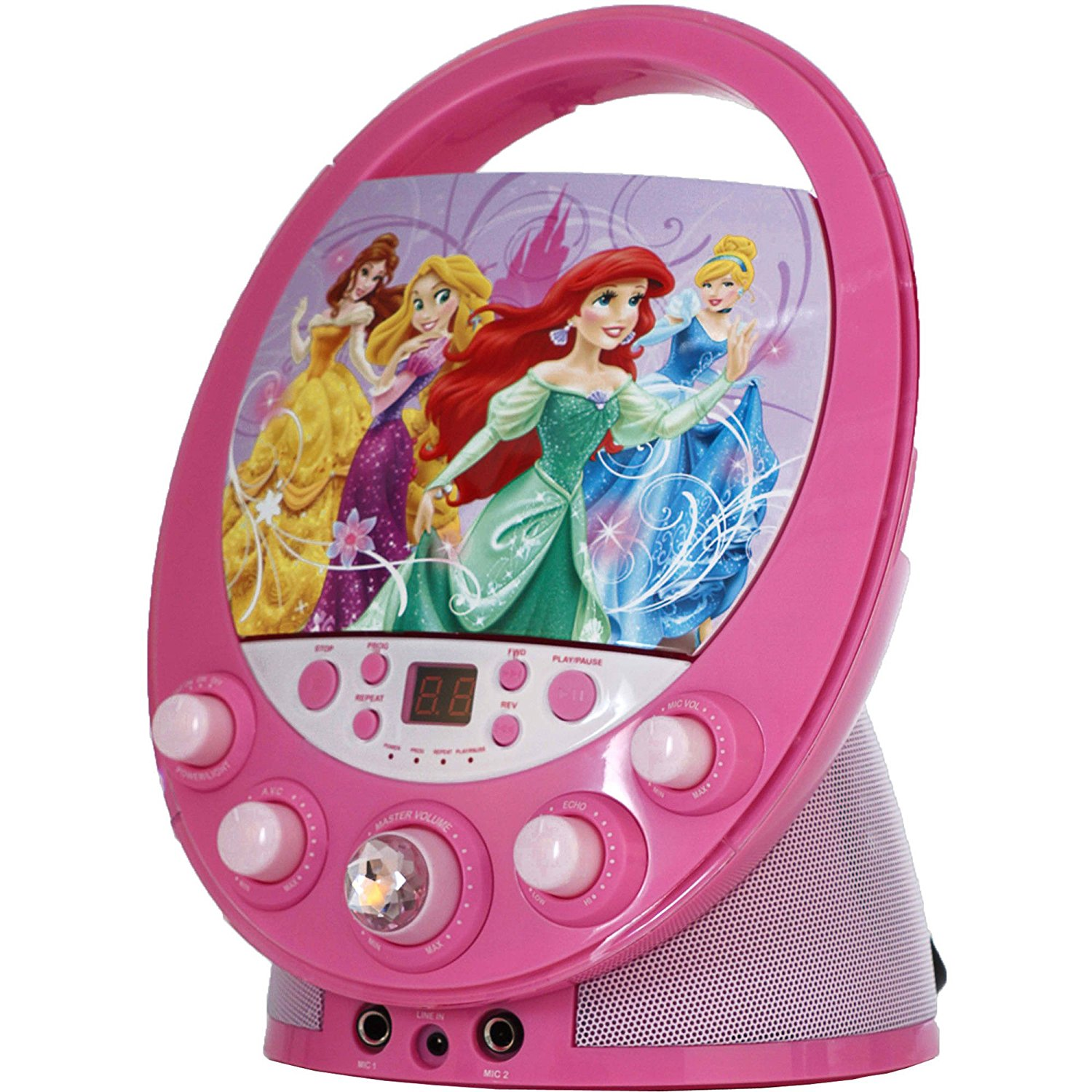 Disney Princess 66205-WINT Disney Princess Flashing Durable Colorful Beautiful Karaoke for Kids