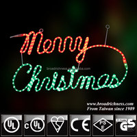 Merry Christmas rope light of Christmas letter light outdoor