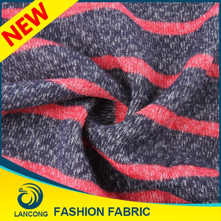 Famous Brand Customized Beautiful 100 cotton french terry knitted fabric for18gg sweater