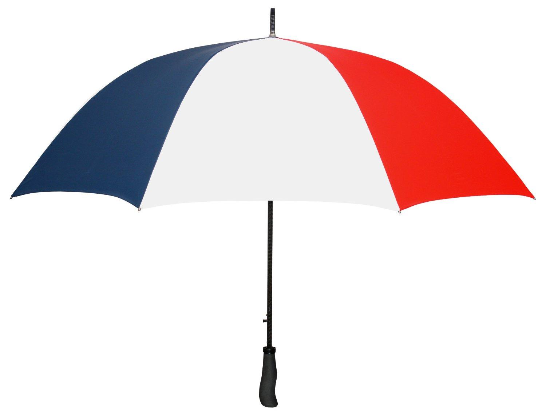 "Red White & Blue WINDPROOF 64"" Arc TYPHOON Auto Open GOLF Umbrella LIFETIME WARRANTY!"
