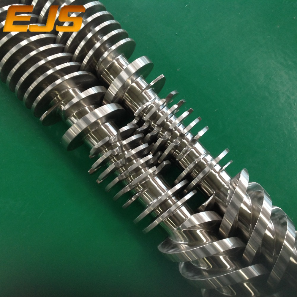 Co-rotating and counter-rotating twin screws in PTA welded