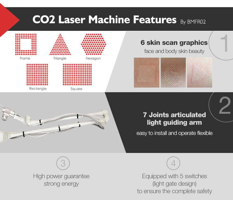 Portable home use co2 fractional laser skin resurfacing machine