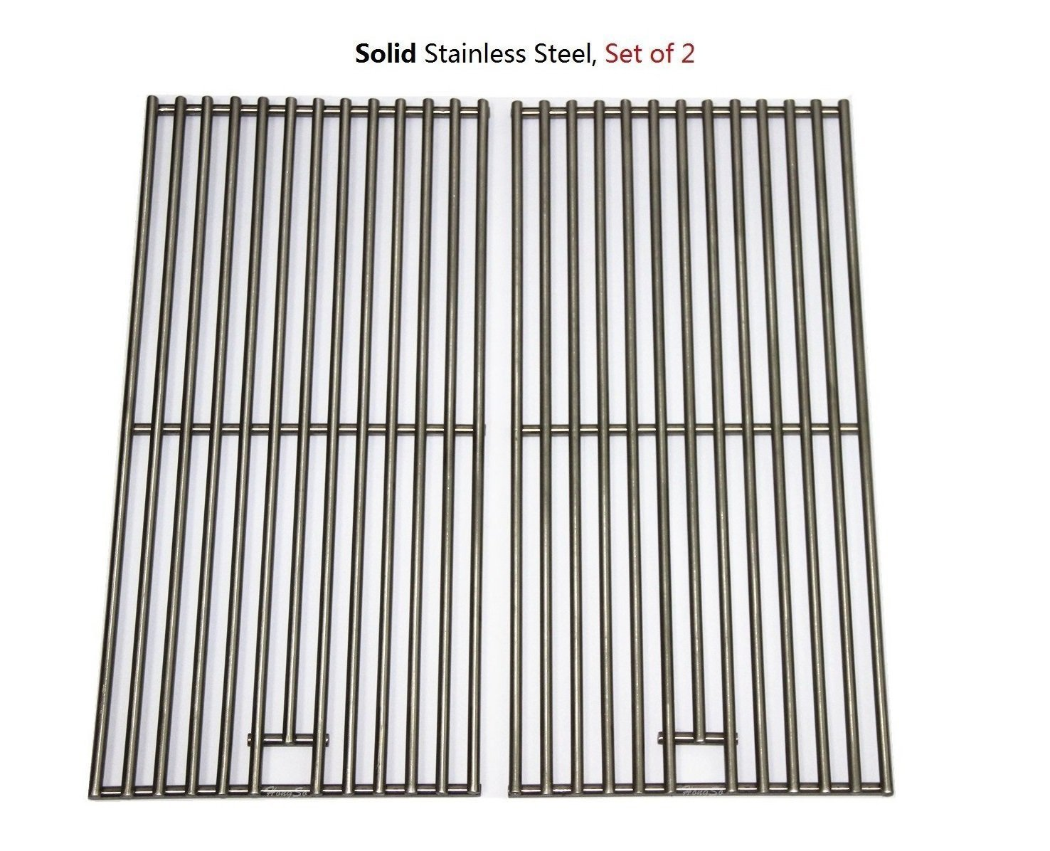 BBQration 2-pack BBQ Solid Stainless Steel Wire Cooking Grid, Cooking Grate Replacement for 2 burner Char-Broil 463645015, 466645015, 466645115 and Others.