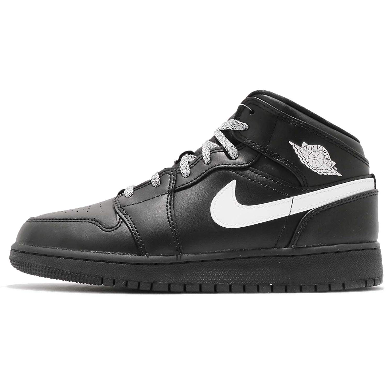 on sale b22c8 7e657 Get Quotations · Jordan Kid s Air 1 Mid BG, Black White-Black