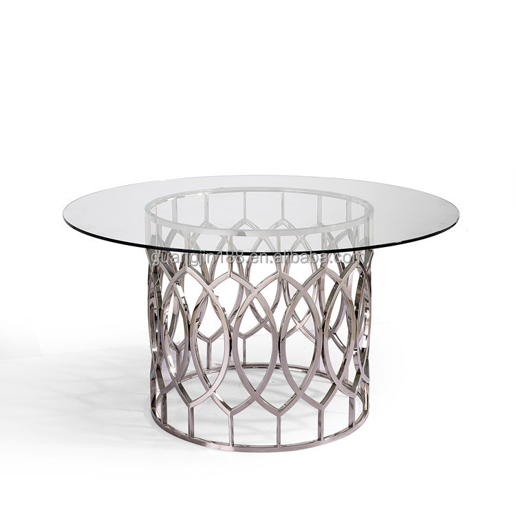 Glass Top Metal Base Dining Table Glass Top Metal Base Dining