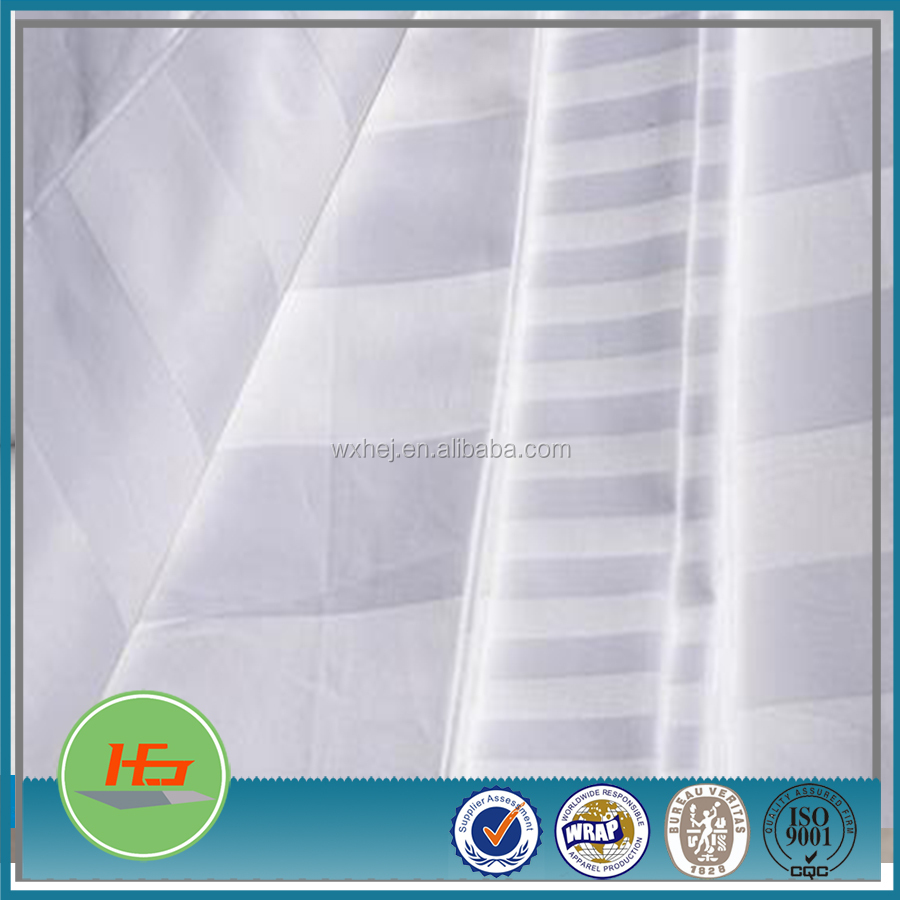 Wholesale 100% cotton hospital bed sheet Satin Stripe