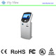 17 inch queue management system with queue system software ,ticket vending machine