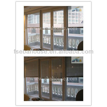 Aluminum Sliding Glass Door With Built In Blinds Ce Office Partition