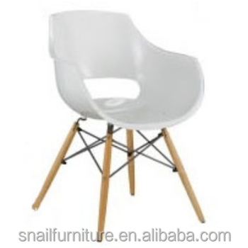 Modern Bucket Chair Armrest Plastic Easy Chair For Sale