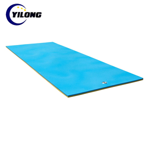 Custom size logo soft water floating mat foam 12 feet x 6 feet