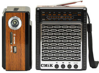 Portable radio with a multi-wave end of the USB, SDCard Play