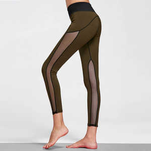 Factory hot sale high quality women fitness mesh pants active yoga wear