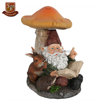 Funny Toilet Design Resin Gnome Garden Decor