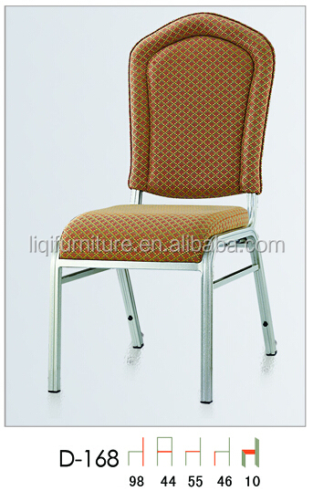 hotsale upholstered comfortable waterfall seat banquet chairs in aluminum QL-D168