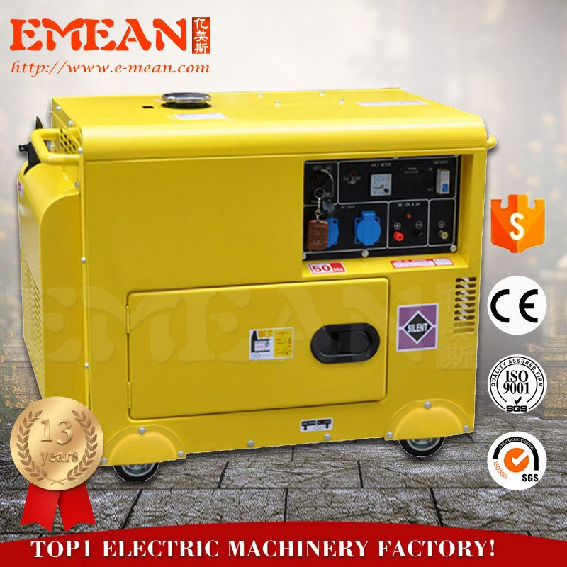 5kva 3 phase silent diesel generator,china generator price list