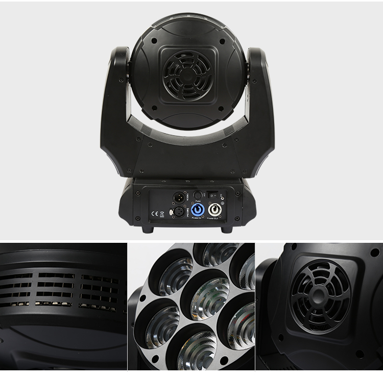 China Professional Stage Lighter Faster Better Color Mixing Better Effect 7*30W 4.5 Moving head light