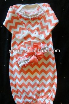 c9cc4370fa47 Lovely Baby Girls Dress Infant Toddlers Chevron Night Gown Dress For ...