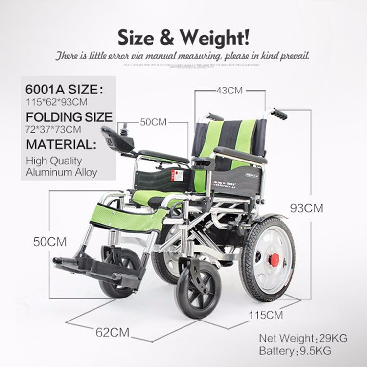 Trade assurance lightweight steel motorized foldable for Cost of motorized wheelchair