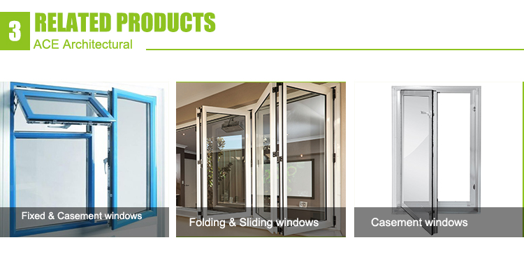 Powcer coated upvc / aluminum residential windows design